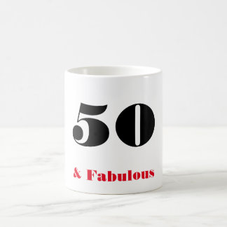 Elegant 50 and Fabulous Old Person Party Mug