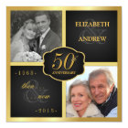 Elegant 50th Anniversary Party Vow Renewal Invitation