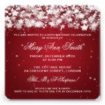 Elegant 50th Birthday Party Dazzling Stars Red Custom Invitation