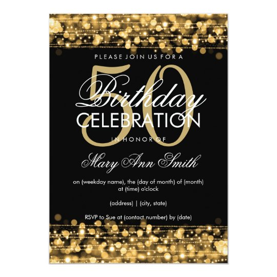 Zazzle 50th Birthday Invitations