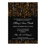 Elegant 50th Birthday Party Star Confetti Gold Personalised Invite