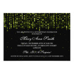 Elegant 50th Birthday Party Star Confetti Green Personalised Announcement