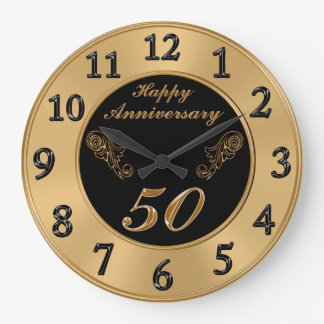 Elegant 50th Wedding Anniversary Clocks