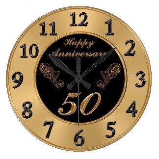 Elegant 50th Wedding Anniversary Clocks
