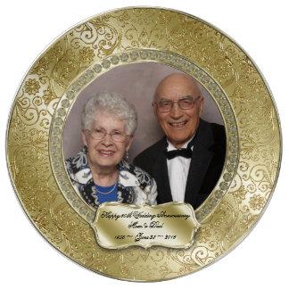 Elegant 50th Wedding Anniversary Photo Plate
