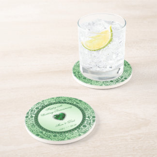 Elegant 55th Wedding Anniversary Coaster