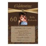 Elegant 60th Birthday Party  Photo Invitations