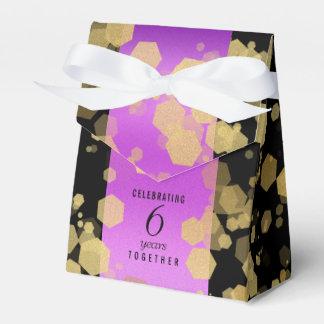 Elegant 6th Amethyst Wedding Anniversary Favour Box