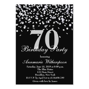 elegant 70th birthday invitations zazzle com au