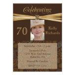 Elegant 70th Birthday Party  Photo Invitations