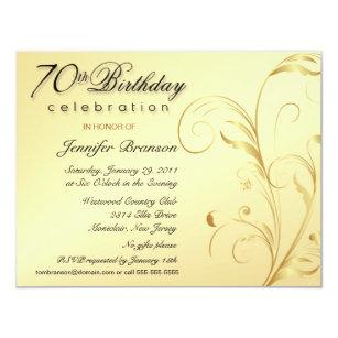Surprise 70th Birthday Invitations Announcements Zazzlecomau