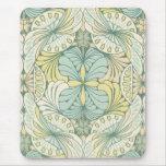 elegant abstract art nouveau swirl design mouse pad