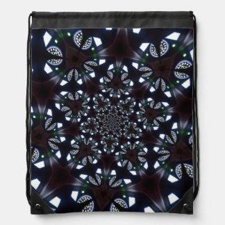 elegant abstract blue design backpack