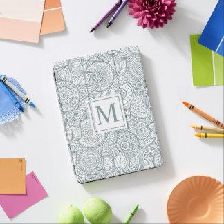 Elegant Abstract Floral Monogram | Ipad Air Case iPad Air Cover