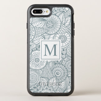 Elegant Abstract Floral Monogram | Phone Case