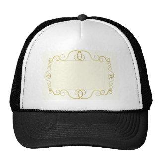 elegant abstract gold frame cap