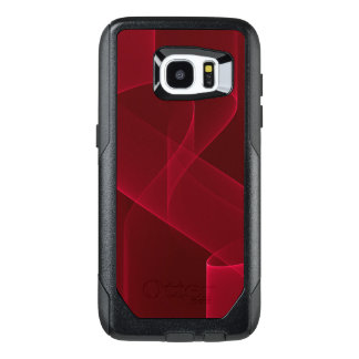 Elegant Abstract Red Ribbon OtterBox Samsung Galaxy S7 Edge Case