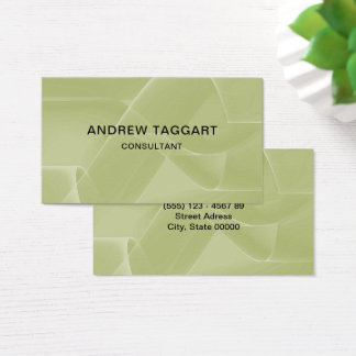 elegant abstract shapes green business card