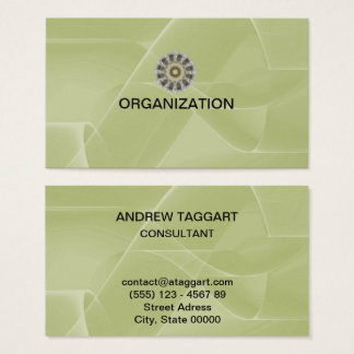 elegant abstract shapes green Organization Business Card