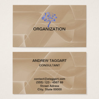 elegant abstract shapes Organization Business Card