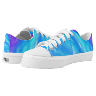 Elegant Abstract style blue Unisex Low Tops