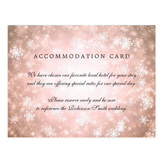 Elegant Accommodation Copper Winter Wonderland Postcard
