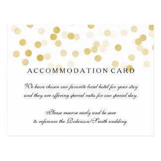 Elegant Accommodation Gold Foil Glitter Lights Postcard