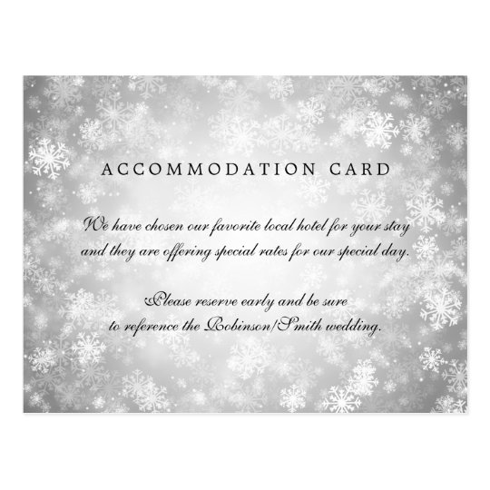 Elegant Accommodation Silver Winter Wonderland Postcard