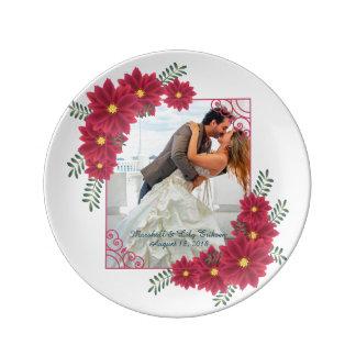 Elegant Add Your Own Photo Wedding Porcelain Plate
