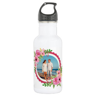 Elegant Add Your Own Photo Wedding Water Bottle