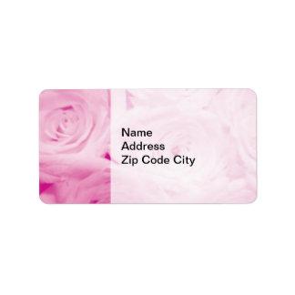 Elegant address stickers | Pink rose flower design Address Label
