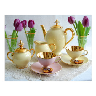 Elegant Afternoon Tea/Coffee Postcard