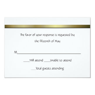 Elegant All Purpose Wedding Response Card 9 Cm X 13 Cm Invitation Card