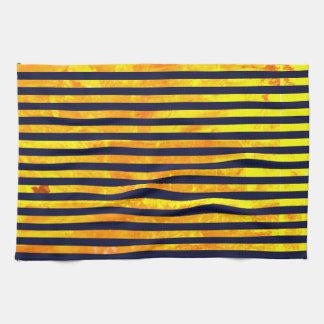 Elegant amber ant stripes pattern tea towel