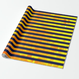 Elegant amber ant stripes pattern wrapping paper