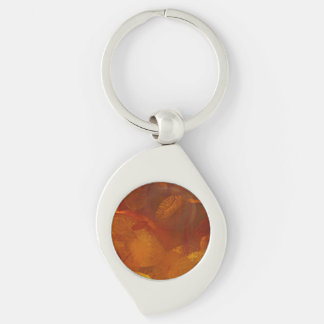 Elegant amber pattern key ring