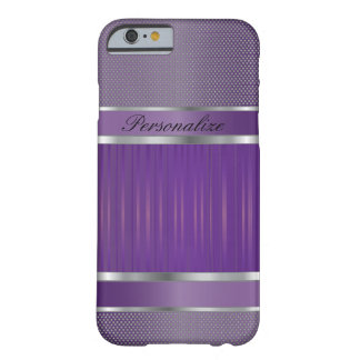 Elegant Amethyst and Silver Metal Design Barely There iPhone 6 Case