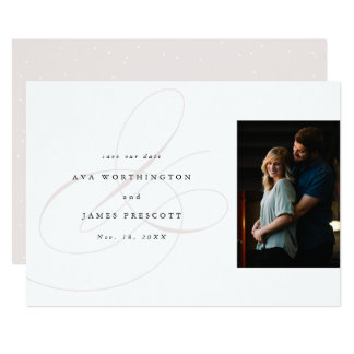 Elegant ampersand save the date card