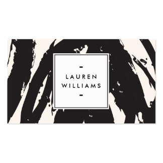 Elegant and Abstract Black Brushstrokes Pack Of Standard Business Cards