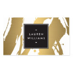 Elegant and Abstract Gold Brushstrokes II Pack Of Standard Business Cards