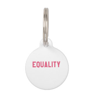 Elegant and Beautiful Typography || EQUALITY Pet Tag