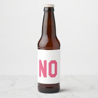 Elegant and Beautiful Typography || NO Beer Bottle Label