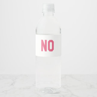 Elegant and Beautiful Typography || NO Water Bottle Label