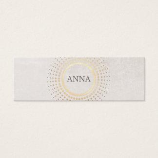 Elegant and Chic Simple Name Gold Circle Motif Mini Business Card