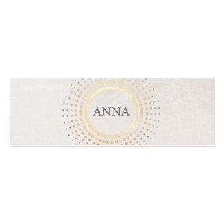 Elegant and Chic Simple Name Gold Circle Motif Pack Of Skinny Business Cards