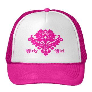 Elegant and classy victorian damask motif fuschia hat