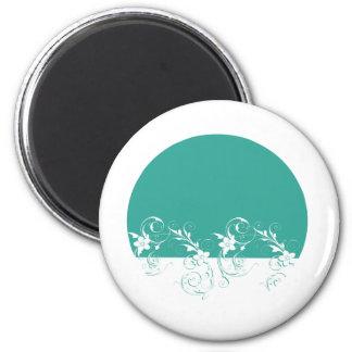 Elegant and Classy Wedding Design 6 Cm Round Magnet