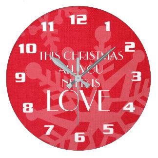 Elegant and Inspirational Christmas Message Large Clock