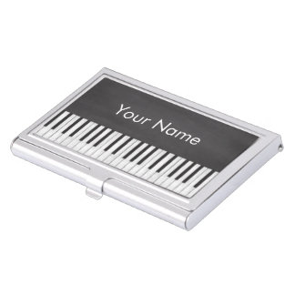 Elegant and Modern Chalkboard Piano Teacher Business Card Cases