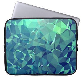 Elegant and Modern Geo Art - Magnificent Glacier Laptop Sleeve